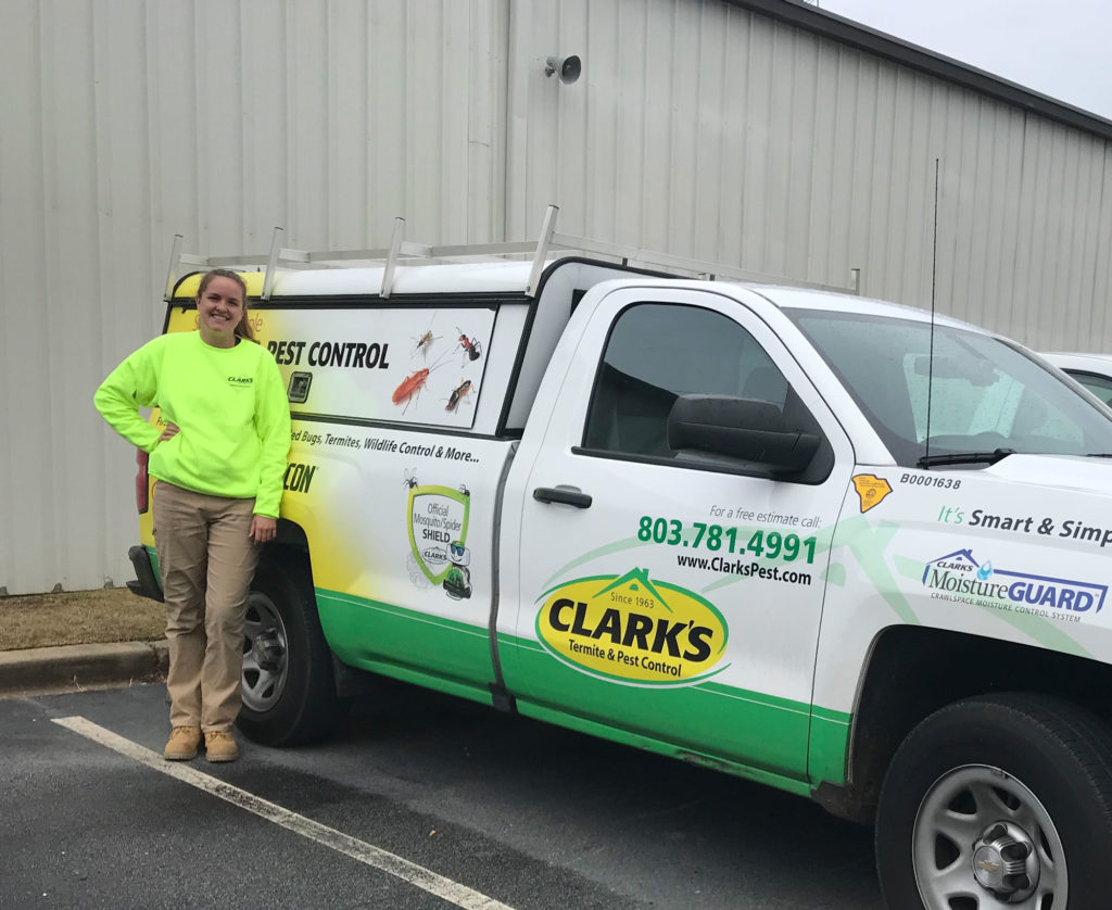 Ashley Broadhurst of Clark's Termite and Pest Control